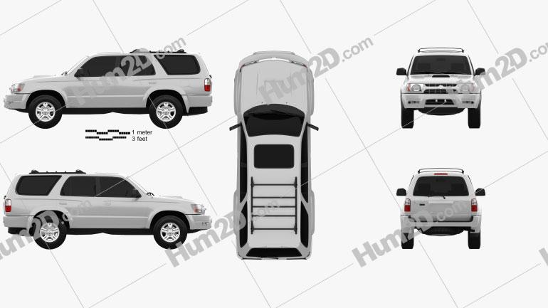 Toyota 4Runner 1999 car clipart