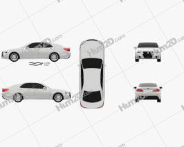 Toyota Crown Hybrid Athlete 2013 car clipart