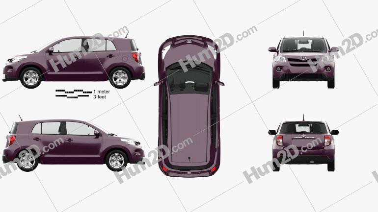 Toyota Urban Cruiser with HQ interior 2008 car clipart