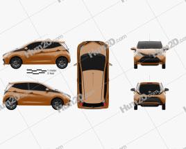 Toyota Aygo 5-door 2014 car clipart