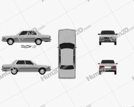 Toyota Crown (S110) Super Saloon 1982 car clipart