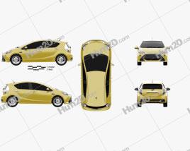 Toyota Aqua G Sports 2013 car clipart