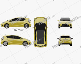 Toyota Aqua Fun 2013 car clipart