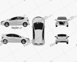 Toyota Aqua Premi 2013 car clipart
