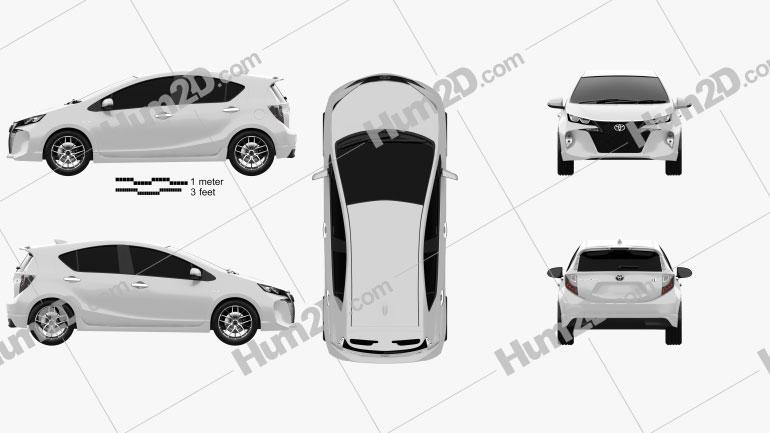 Toyota Aqua Premi 2013 Imagem Clipart