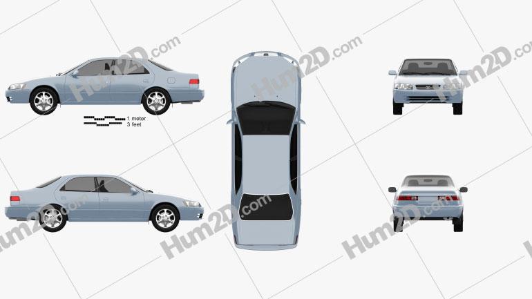 Toyota Camry (XV20) 1997 car clipart