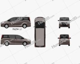 Toyota Noah G 2014 clipart