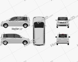 Toyota Sienta 2011 clipart