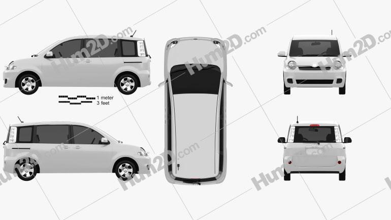 Toyota Sienta 2011 Clipart Image