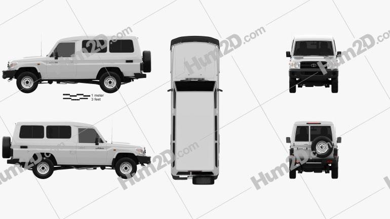 Toyota Land Cruiser (J78) 2010 car clipart