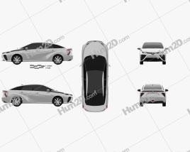 Toyota FCV 2015 car clipart