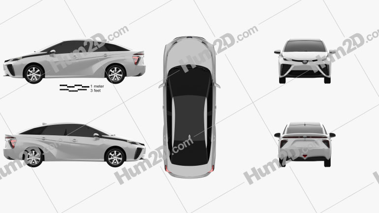 Toyota FCV 2015 Clipart Image