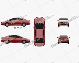 Toyota Sai G 2013 car clipart
