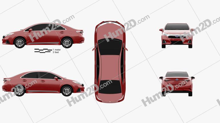 Toyota Sai G 2013 Clipart Image