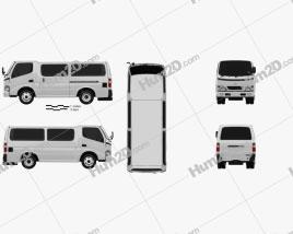 Toyota ToyoAce Van 2006 clipart