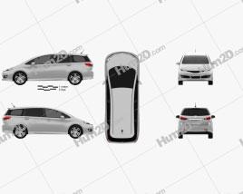 Toyota Wish 2009 clipart
