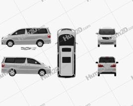 Toyota Alphard 2002 clipart