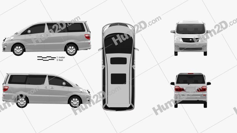 Toyota Alphard 2002 Imagem Clipart