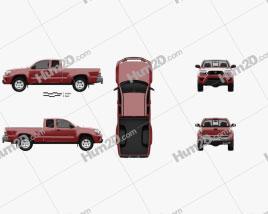 Toyota Tacoma Access Cab 2012 car clipart