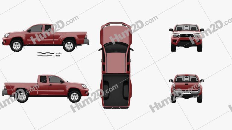 Toyota Tacoma Access Cab 2012 Clipart Image