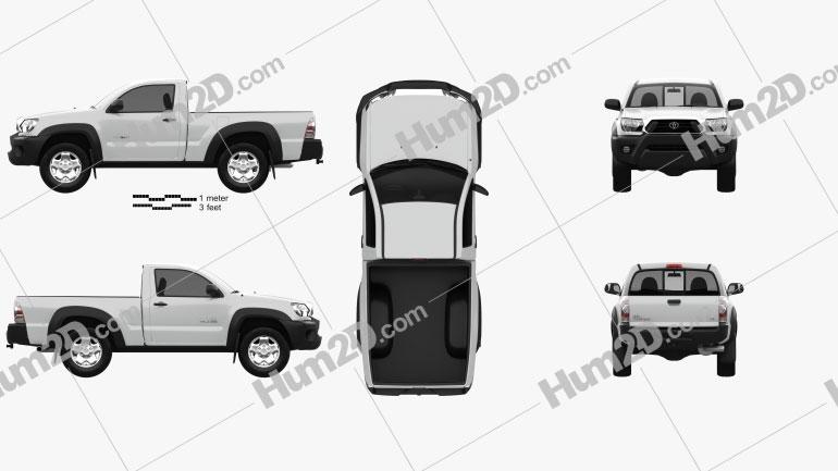 Toyota Tacoma Regular Cab 2012 Clipart Image