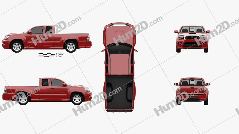Toyota Tacoma X-Runner 2012 car clipart