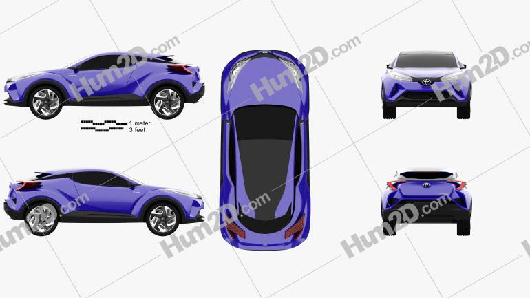 Toyota C-HR Concept 2014 car clipart
