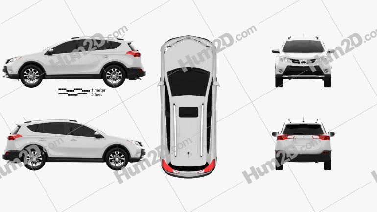 Toyota RAV4 (XA40) EU-spec 2013 car clipart