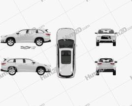 Toyota Highlander with HQ interior 2014