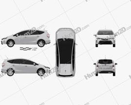 Toyota Prius Plus 2015 car clipart