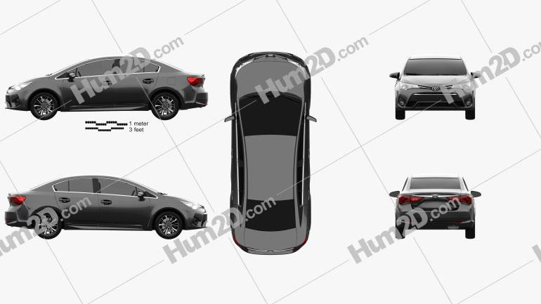 Toyota Avensis (T270) sedan 2016 car clipart