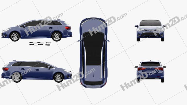 Toyota Avensis (T270) wagon 2016 car clipart
