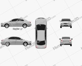 Toyota Avensis sedan 2006 car clipart