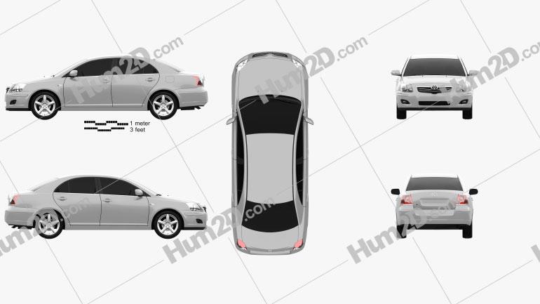 Toyota Avensis sedan 2006 Imagem Clipart