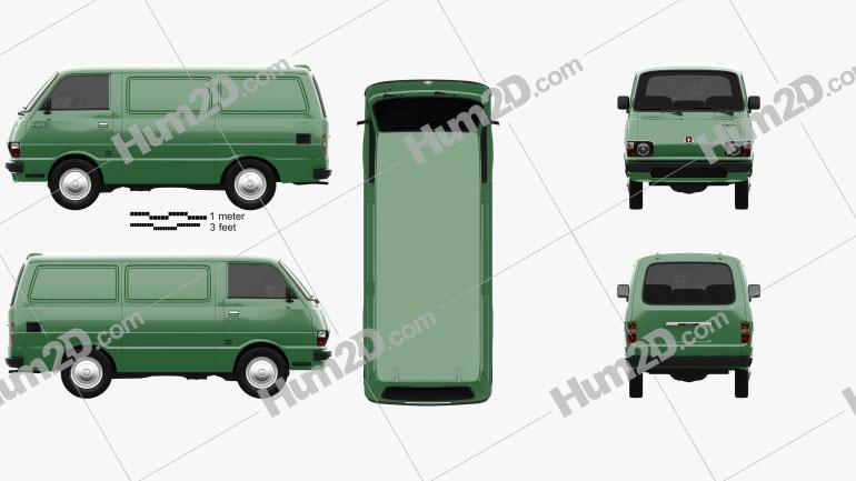 Toyota Hiace Panel Van 1977 clipart