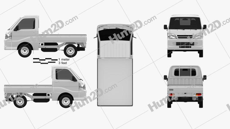 Toyota Pixis Truck 2011 clipart