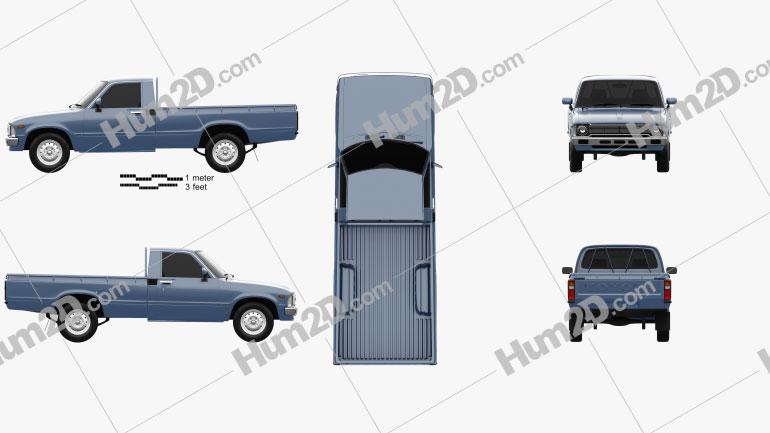 Toyota Hilux Regular Cab 1978 car clipart
