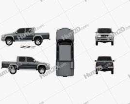 Toyota Hilux Double Cab 2001 car clipart