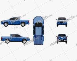 Toyota Hilux Double Cab Revo 2015 car clipart