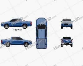 Toyota Hilux Cabina dupla SR5 2015 car clipart