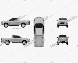 Toyota Hilux Extra Kabine SR 2015 car clipart