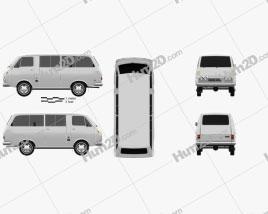 Toyota Hiace Passenger Van 1967 clipart