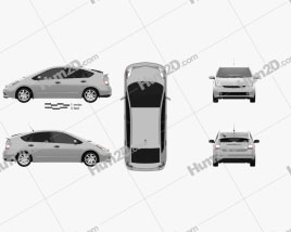 Toyota Prius (NHW20) 2003 car clipart
