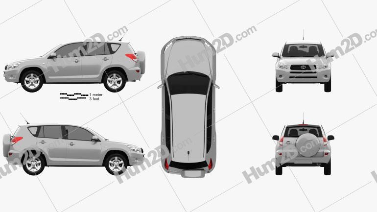 Toyota RAV4 2006 car clipart