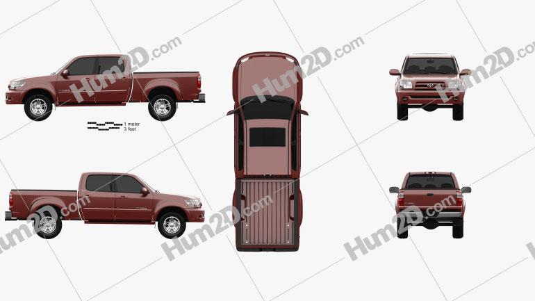Toyota Tundra Double Cab 2003 car clipart