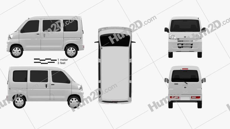 Toyota Pixis Van 2011 Clipart Bild