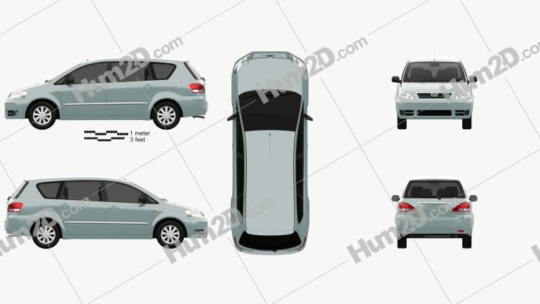 Toyota Avensis Verso 2001 car clipart