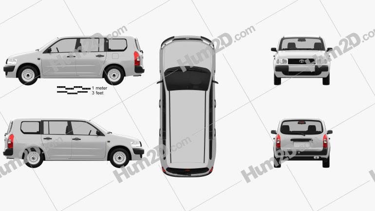 Toyota Probox Van 2002 clipart