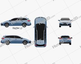Toyota Auris Touring Sports Hybrid 2015 car clipart