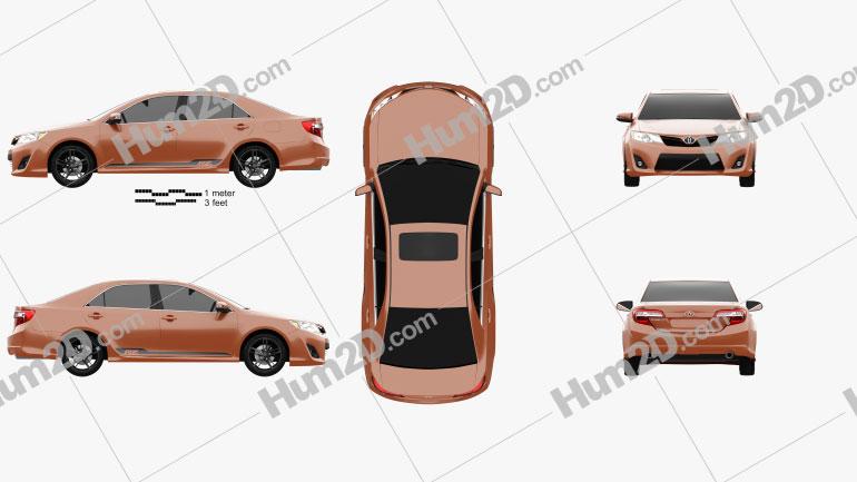 Toyota Camry (XV50) RZ SE 2014 car clipart